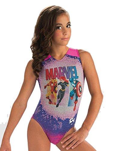 GK Elite Girls x Marvel's Super Hero Tank Gymnastics Leotard Tank Made in USA