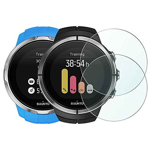 Price comparison product image Wimaha 2 Pack Suunto Spartan Ultra HR and Sport HR Screen Protector Glass Scratch Resistant Tempered Glass Protector for Suunto Spartan Ultra HR and Suunto Spartan Sport HR