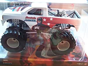Amazon.com: Muscle Machines Captain America Monster Truck ...