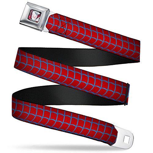 Buckle-Down Seatbelt Belt - Spider-Gwen Spider-Suit Web Red/Blue - 1.0