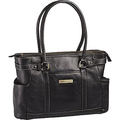 "Clark & Mayfield Hawthorne Leather Laptop Handbag 17.3"" delicate"