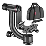 Neewer 360 Degree Carbon Fiber Panoramic Gimbal Tripod Ball Head with Arca-Swiss Standard 1/4-inch Quick Shoe Plate for DSLRs, Mirrorless Cameras, Support Weight up to 33 pounds/15 kilograms