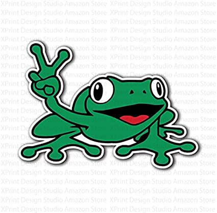 NEW PEACE FROGS STONES STICKER