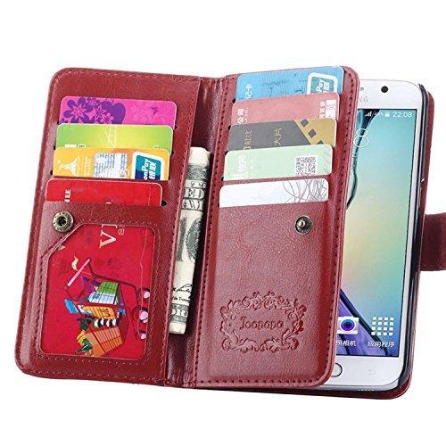 S6 Case, Galaxy S6 Case, Joopapa Samsung Galaxy S6 Wallet Case,luxury...