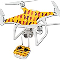 Skin For DJI Phantom 4 Quadcopter Drone – Feathers | MightySkins Protective, Durable, and Unique Vinyl Decal wrap cover | Easy To Apply, Remove, and Change Styles | Made in the USA