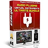 Software : Audio Plugins Bundle for Software VST AU AAX Music Synth Delay Virtual Instruments Windows & MAC for FL Studio, Ableton Live, Pro Tools, Cubase etc. (32Gb USB)