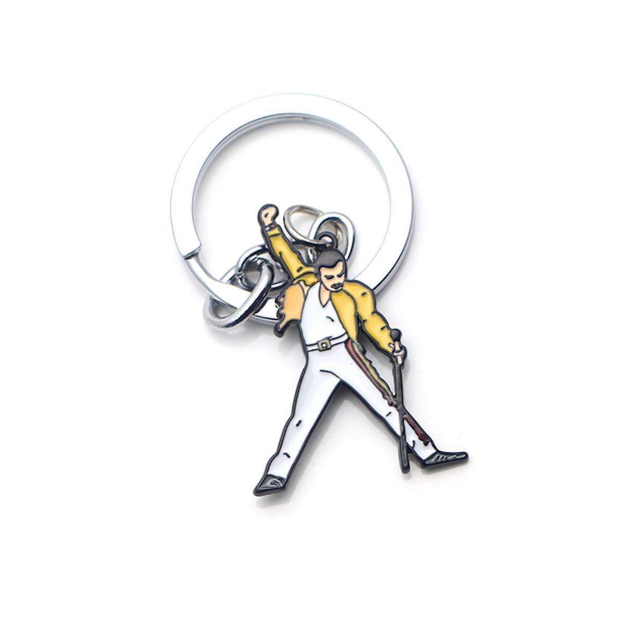Freddie Mercury Keychain//Rock Music Legends Keychain//LGBTQ Keychain//Custom Keychain//Queen Keys Keychai n