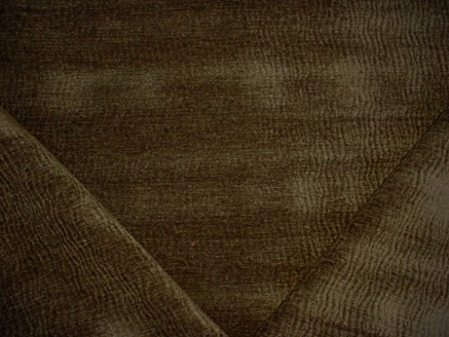264H3 - Basil Green Tiger Stripe Luxurious Transitional Chenille Upholstery Drapery Fabric - By the Yard