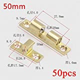 50pcs 50mm Wholesale Pure Copper Double Ball Latch Clip Lock Cabinet Door Catches Touch Beads Bronze Brass Color