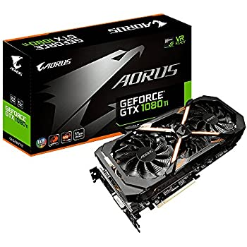 Gigabyte AORUS GeForce GTX 1080 Ti 11GB Graphic Cards GV-N108TAORUS-11GD