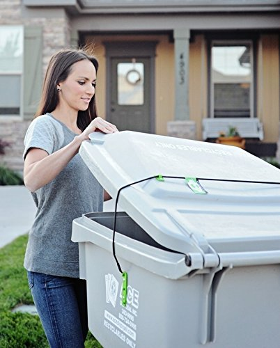 Trash Buddy - Dog Proof Trash Can Lid - The Easy-Install Solution for Securing Your Outdoor Garbage Can Lid - Still Empties at Pickup Time (Garbage Can Lid Lock compare prices)