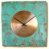 Handmade Copper Wall Clock 12-inch Silent Non Ticking Review