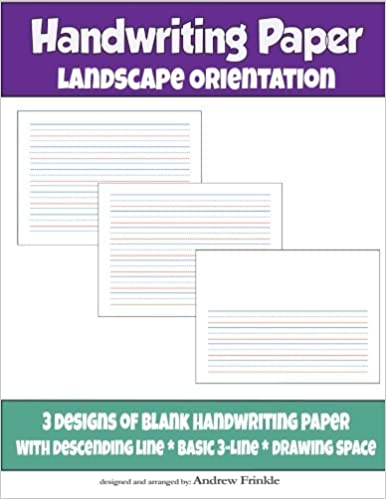 Book Handwriting Paper: Landscape Orientation (Volume 1) by Andrew Frinkle (2015-10-03)