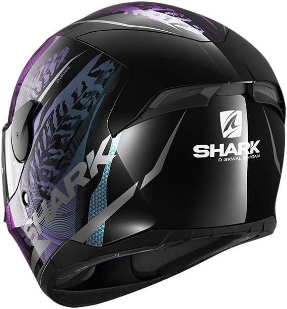 Schwarz//Lila XS Shark Motorradhelm D-SKWAL 2 SHIGAN KVX