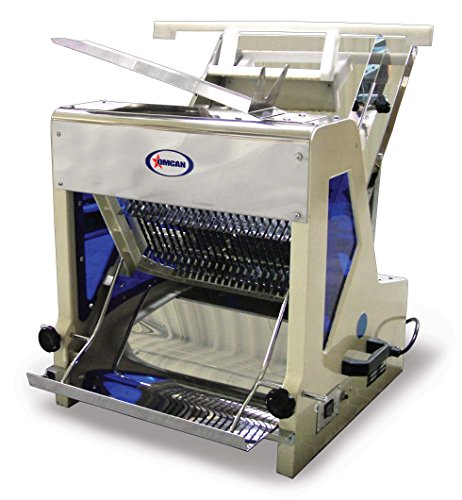 Omcan 10249 commercial 5/8' Heavy Duty Automatic Electric Bread Slicer SM30258