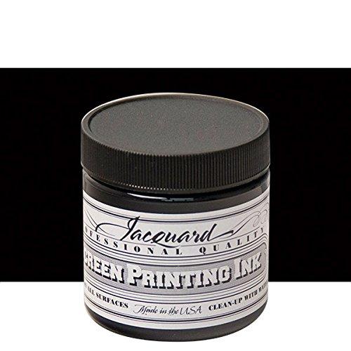 Jacquard Jac-JSI1117 Screen Printing Ink, 4 oz, Black by Jacquard