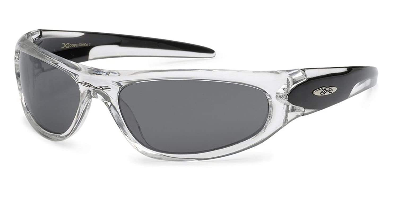 fde6ef62102 chic X-Loop Men s Crystal Clear Frame Baseball Running Driving Sports  Sunglasses