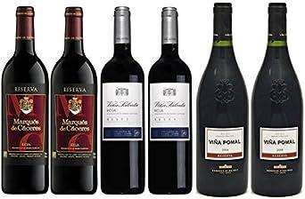 Pack Vino Rioja Clasicos Reserva 6 botellas. 2 Viña Salceda ...