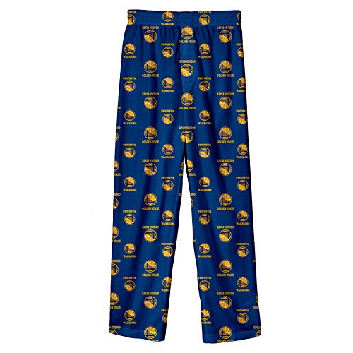 NBA San Francisco Warriors Youth Boys 8-20 Sleepwear All Over Print Pants, Small/(8), Blue