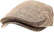 MIRMARU Men's Classic Flat Ivy Gatsby Cabbie Newsboy Hat with Elastic Comfortable Fit and Soft Quilted Lining.