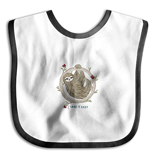 Price comparison product image MGDBB Children Slobber Gifts TAKE IT EASY AND Cute Sloth Teething Bibs