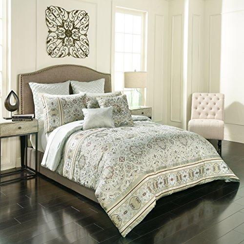 Vue 7 Piece Valencia Comforter Set, King, Sage ()