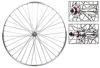 Wheel Master 700c Road Wheel Set - Sun M13 Rim, 36H, 5/6/7-Speed FW, QR Silver