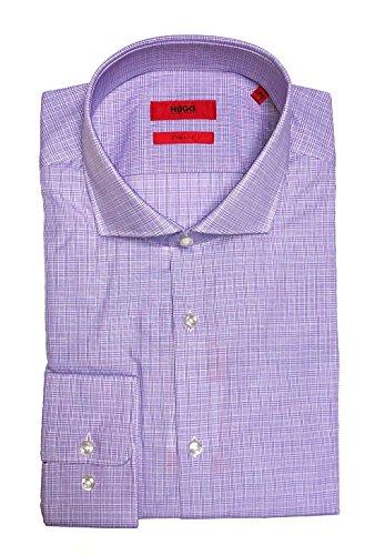 Hugo Boss Meli Sharp Fit Spread Collar Dress Shirt Long Sleeve Cotton Light Purple (15-32/33)
