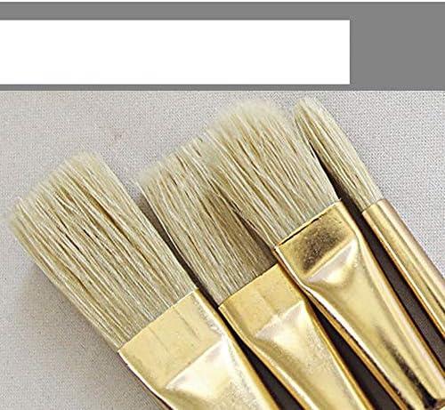 SDAKVDNS 快適なグリップ、ノー変形と無ヘア損失で6つのアートブラシ、オイルはアートとアート絵画用ブラシを絵画