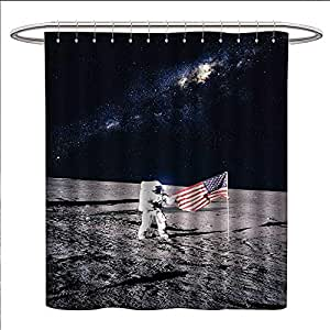 Amazon.com: Anniutwo Outer Space Shower Curtains Fabric ...