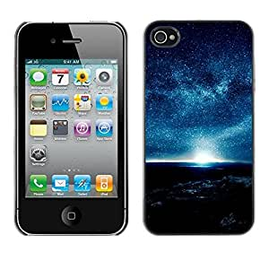 LECELL -- Funda protectora / Cubierta / Piel For Apple iPhone 4 / 4S -- A Night Full Of Stars --