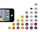 30/60/120/240/300 Pcs Home Button Sticker for Men Women, Colorful Bubble Buttons Home Button Key Keyboard Keypad Sticker Protector Multi Patterns Case Skin DIY Decoration Wholesale Accessories for Apple iPhone 3GS 4 4s 5 5c 5s 6 6 Plus iPod Touch 4 5 iPad 2 3 4 / Mini / Mini 2 /Mini 3 / Air / Air 2 + 1pc Microfiber phone screen cleaning Cloth GIFT, Christmas Halloween Polka Dots Cartoon Animal Star Flower Heart Bow Bowknot Kitty Mustache Simple Black White (30Pc Button Sticker)