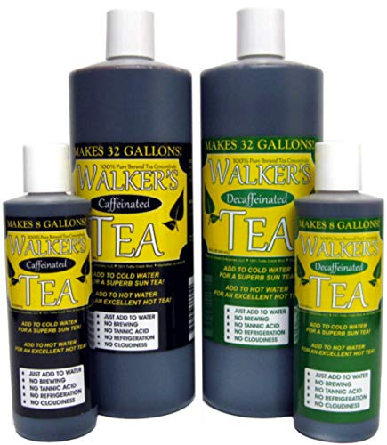 Walker's Tea Liquid Tea Concentrate Decaffeinated 8oz. - Makes 8 Gallons!