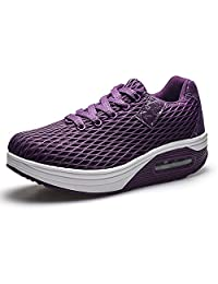 Kemosen Women's Lightweight Sneakers,Ladies Casual Comfortable Walking Shoes Wedges Breathable Trainers Running Shoes