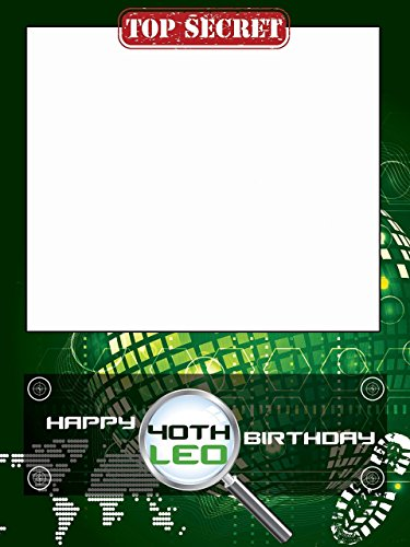 Personalized spy Birthday Photo Booth Prop - sizes 36x24, 48x36; Personalized Detective, Spy birthday, Warfare, Paintball, Laser Shooting, Home Decorations, Handmade Party Supply Photo Booth ()