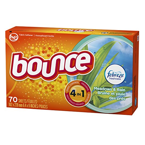 Bounce with Febreze Meadows & Rain Dryer Sheets, 70 Count, (Pack of 3) by Bounce (Image #3)