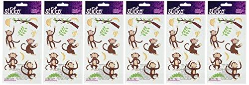 Sticko Classic Stickers-Monkey Glitter