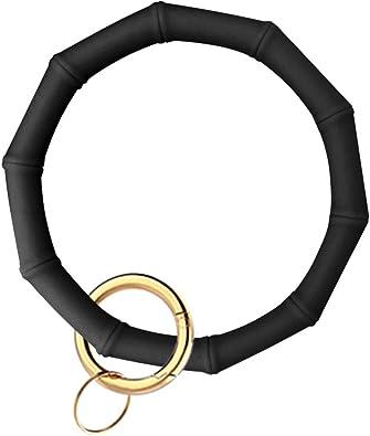 Silicon Wristlet Keychain with Card Holder Bangle Keyring Bracelet Holder for Women Girl Idakekiy Key Chain