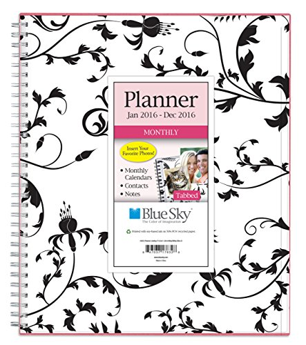 "Blue Sky 2016 Monthly Planner, Wire-O Binding, 8"" x 10"", Analeis (17632-W)"