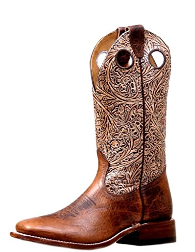 Bison Pull Lined Apache Mocha Boulet 7044 Apache Holes Womens Western Boots Mocha Tooled cZWgUvIR