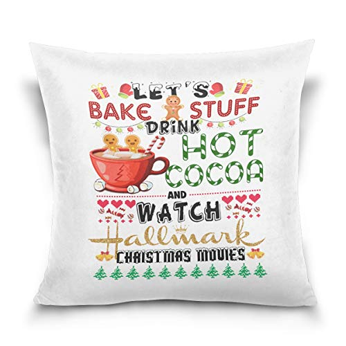 Aibileen Let's Bake Stuff Drink hot Cocoa and Watch Christmas Movies,Pillowcase,Home Decor for Sofa,Gift -