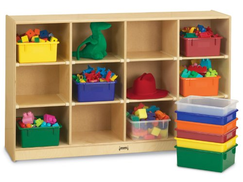 JonTi CrafT Classroom Mobile Shelf w 12 Cubbies