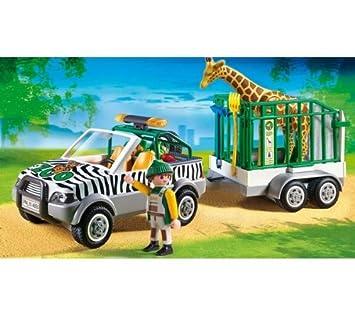 Playmobil - Zoo - 4855 - Zoo Vehicle with trailer 4855 (PLAYMOBIL)