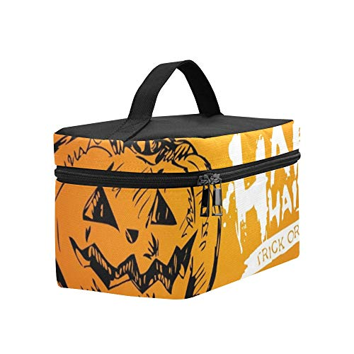 Halloween Happy Halloween Trick Treat Lunch Box Tote Bag Lunch Holder Insulated Lunch Cooler Bag For Women/men/picnic/boating/beach/fishing/school/work ()