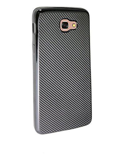 Rubberized Carbon Fiber (Samsung J7 Prime Case, KolorFish Carbon Fiber Rubberized Slim Anti-Slip Grip Cover Flexible Soft TPU Case for Samsung Galaxy J7 Prime (Black))