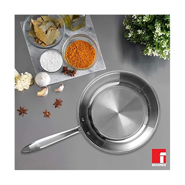 Bergner-Argent-TriPly-Stainless-Steel-Fry-Pan-with-Riveted-Cast-Handle-Induction-Base-20-cm-Silver