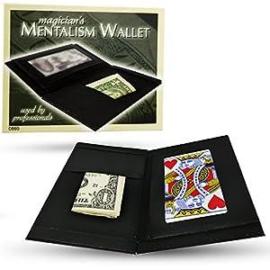 Magic Makers Leather Magician's Mentalism Wallet - Mind Reading Magic Trick
