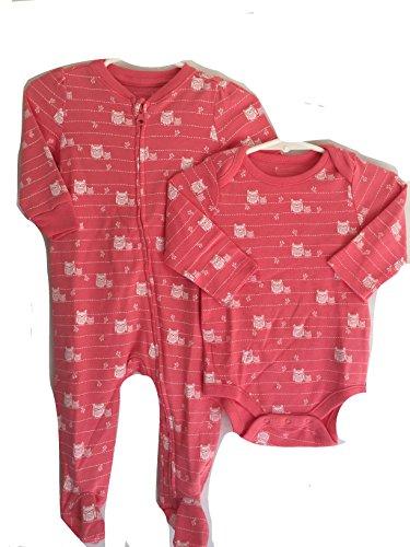 babygap-pink-sleeper-pajamas-and-matching-onsie-set-size-6-9-month