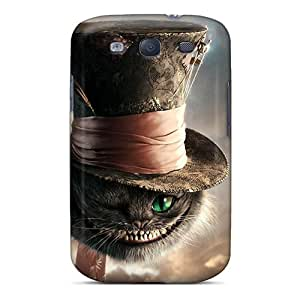 Best Hard Cell-phone Case For Samsung Galaxy S3 With Provide Private Custom Nice Cat In Alice In Wonderland Image TraciCheung