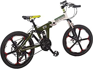 20inch 21 speed LAND ROVER G4 alloy Foldable Bicyce. white